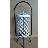 Buy cheap White Hanging Lantern Stand Home Decor Self Rotation Table Lantern with 4 Tealight Candles from wholesalers