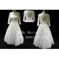 Quality Suitable short country with beadings three quarter wedding dresses BYB-14591 for sale