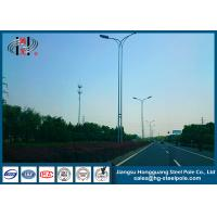 China Conical Tapered 15 Meters Anti - corrosive Street Light Poles With Arm on sale