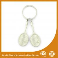 Buy cheap Promotional Badminton Racket Custom Metal Keychains 9mm Length from wholesalers