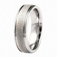 Buy cheap Ring, 316L Stainless Steel/Titanium Jewelry Ring, from wholesalers