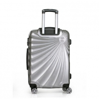 Wholesale Silver 0.8mm Leisure PC ABS Hardshell 4 Wheel Suitcase from china suppliers