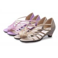 Low Heel Purple Summer Fashion Sandals With PU Straps Hollow Upper Back Counter