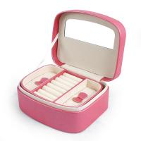 Wholesale OEM PU Pink Cute Jewellery Leather tool Case Cosmetic Makeup Organizer from china suppliers