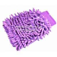 Buy cheap microfiber chenille house cleaning car washing gloves mitts from wholesalers