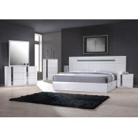 Buy cheap High Gloss King Size Bedroom Furniture Set/ White Lacquer and Blue Glass from wholesalers