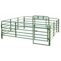 Buy cheap Pipe Railing Cattle Corral Panels , Portable Corral Panels With Black Green Painted from wholesalers