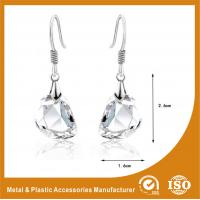 Wholesale OEM / ODM Womens Silver Metal Earrings Hook Zinc Alloy Plated from china suppliers