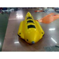 China Yellow And Black Inflatable Small Banana Boat For 3 People , Inflatable Water Games on sale