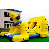Buy cheap Yellow Spotty Dog PVC Slide Animal Theme Dog Shape Inflatable Slip N Slide product