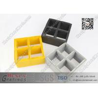 Buy cheap 38mm depth Fire Retardent Fiberglass Reinforced Plastic Molded Grating 38x38mm square hole from wholesalers