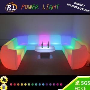 China PE Plastic Lounge Furniture LED Double / Single Sofa on sale