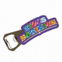 Buy cheap Bottle Opener with Soft PVC Cover, Available in PMS Colors, Customized Logos and product