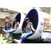 Buy cheap Infinity 9D 720 Virtual Reality Equipment Egg Chair Cinema Simulator 2 Seats For Game Zone from wholesalers