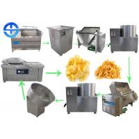 Buy cheap Small Scale Potato Chips Making Machine Semi Automatic French Fries Production Line from wholesalers
