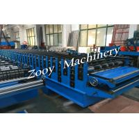 Buy cheap Galvanzied Steel Metal Deck Roll Forming Machine With 5 Tons Decoiler from wholesalers