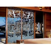 Buy cheap 10mm Optic White Interior Decorative Glass Doors For Bedroom , Thai Style from wholesalers