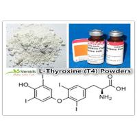 Buy cheap Bulking Cycle Positive T4 / L-Thyroxine Legal Oral Steroids 51-48-9 Levothyroxine Sodium Powders from wholesalers