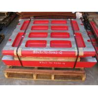 Buy cheap High Manganese Steel Casting jaw Plate For Komatsu Jaw Crushers from wholesalers
