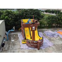 Buy cheap Pirate Ship Design Indoor Blow Up Bouncers , Safety Kids Inflatable Slide from wholesalers