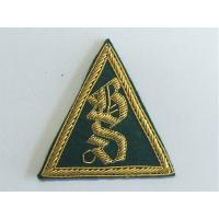 Handmade Triangle Bullion Wire Embroidery Patch Custom Bullion Badges Manufactures