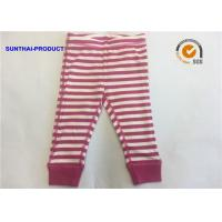 Buy cheap Yarn Dye Baby Pajama Pants , Kids Cotton Pajama Pants With Elastic Waistband from wholesalers