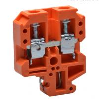 Buy cheap Orange Wire Din Rail Terminal Blocks Screw Type Using NS32/16 Din Rail from wholesalers