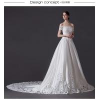 Buy cheap Empty exquisite carving big wagging tail strapless wedding dresses , Swarovski handmade three-dimensional flower-shaped from wholesalers