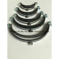 Buy cheap Galvanized Surface Pipe Mounting Clamps , Heavy Duty Pipe Insulation 12 Inch Pipe Clamp from wholesalers