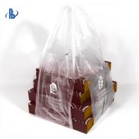 Buy cheap Biodegradable PE Plastic Pizza Carrying Bag Custom Color / Printing Support from wholesalers