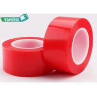 Buy cheap Red Lining Polyester Film Double Sided PET Tape Solvent Resistant Strong Tensile Strength from wholesalers