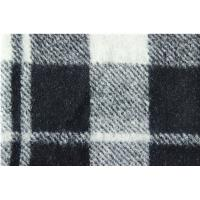 Buy cheap White Graphite Damier Ebene Wool Jacquard Fabric Knitting Cloth from wholesalers