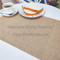 Buy cheap PP+PE,EVA,11.8*17.71 inch,Cream,blue,black,yellow and grey,Woven Plastic Table mats and Runners from wholesalers