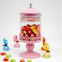 Buy cheap Glass rotating candy jar with metal base candy holder from wholesalers