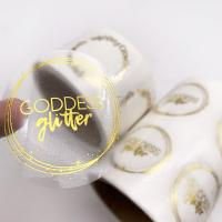 Buy cheap Gold Foil Hot Stamping Self Adhesive Transparent Packaging Label Stickers Printing from wholesalers