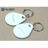 Wholesale ABS Material Rfid Key Fob System , White Color NFC NTAG213 Hotel Rfid Key Tag from china suppliers
