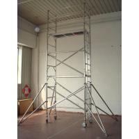 Buy cheap 8.2m Ladder Frame Light Weight Scaffolding , Adjustable leg Scaffold tower from wholesalers