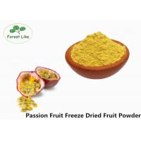 Buy cheap Food Grade Freeze Dried Passion Fruit Powder No Additive Yellow Powder from wholesalers