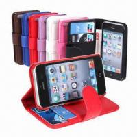 Buy cheap Wallet Credit Card/ID Card/Leather Case for iPhone 5 from wholesalers