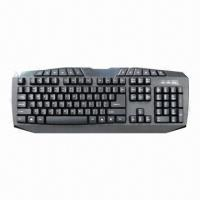 Buy cheap Keyboard, 104 Standard Keys and 12 Enhanced Hot Keys from wholesalers