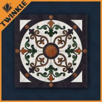 Buy cheap Decor Waterjet Marble Floor Medallions / Natural Marble Paving Medallions from wholesalers