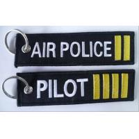 Air Police 2 Bars Pilot 4 Bars Fabric Embroidery Pilot Key Chains Manufactures