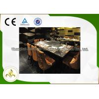 Ten Seats LPG / Pipeline Natural Gas Teppanyaki Grill Table , Residential Hibachi Grill Table