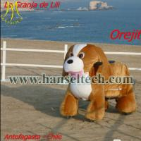 Hansel Electronics Stuffed Zippy Rides Walking Donkey Ride Toy Zoo Animal Scooters Manufactures
