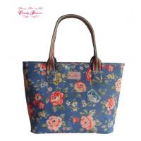 Buy cheap Large Volume Floral Printed Waterproof Canvas Shoulder Bag for Women from wholesalers