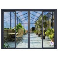 China Thermal Break Aluminium Sliding Glass Doors Color Optional With Security System on sale