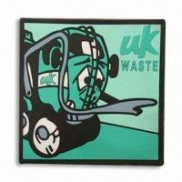 Wholesale Soft PVC Coasters, Customized Designs Welcomed, Lightweight, Various Colors Available from china suppliers