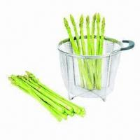 Buy cheap Stainless Steel Mesh Basket with Two Handle, Ideal for Fruits/Vegetables from wholesalers