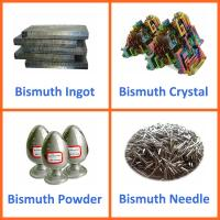 Buy cheap China Bismuth Metal Ingots, Powder Bismuth Crystal, Bismuth Needles from wholesalers