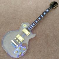 China High quality Standard LP acrylic electric guitar, rosewood Fingerboard LED light LP 1959 R9 electric guitar, free shippi on sale